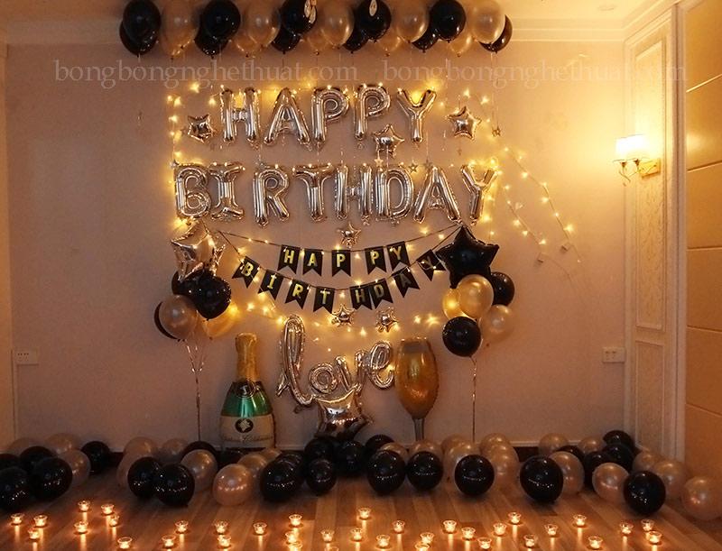 Trang trí sinh nhật tại phòng riêng