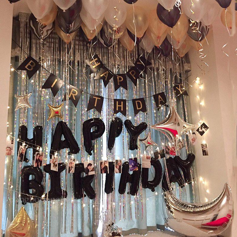 Trang trí sinh nhật tông màu đen