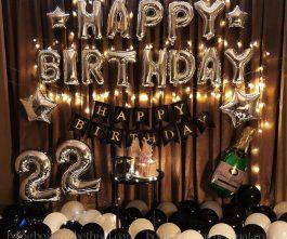 Trang trí sinh nhật tuổi 22 cho bạn trai dễ thương