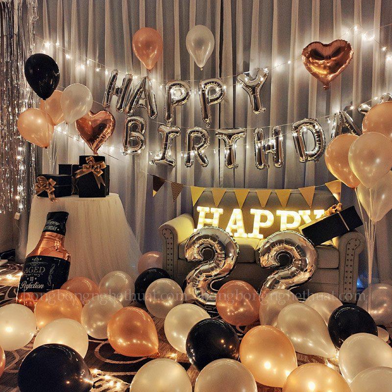 Trang trí sinh nhật tuổi 22 cho người yêu