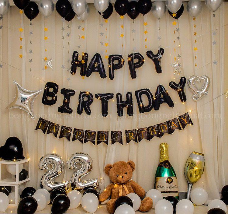 Trang trí sinh nhật 22 tuổi đơn giản