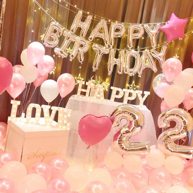 Trang trí sinh nhật tuyệt đẹp tuổi 22
