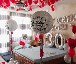 Trang trí sinh nhật vợ yêu
