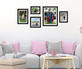 set 5 khung hình dán tường gia đình
