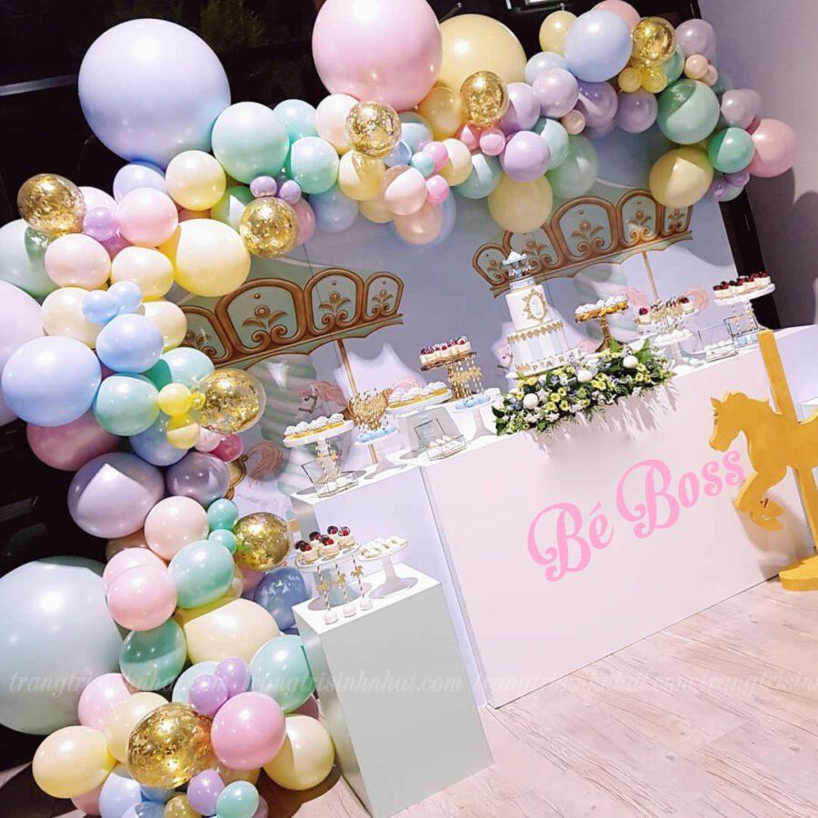 Gói trang trí bàn bánh kem sinh nhật