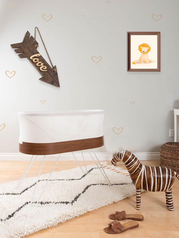 Vườn trẻ SNOO với hình ảnh sư tử trên tường
